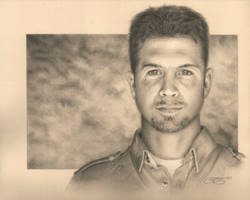 Self Portrait Pencil Drawing by golfiscool
