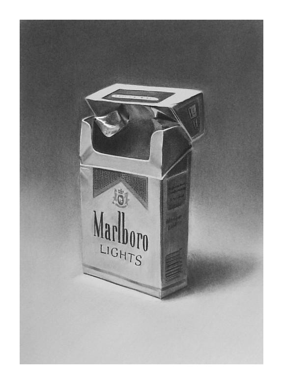 how to draw a cigarette box