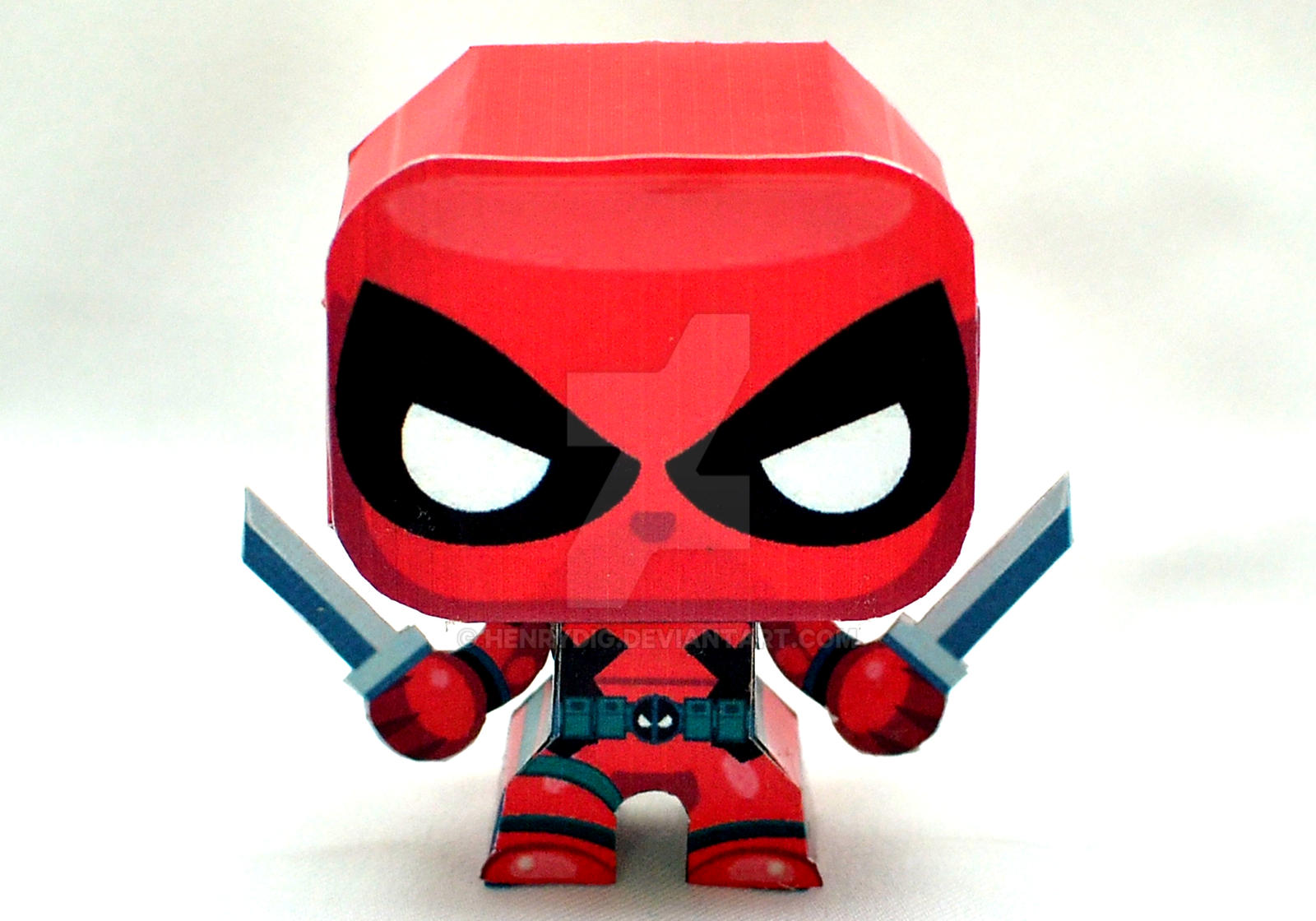 Mini Deadpool Papercraft By Henrydig On Deviantart