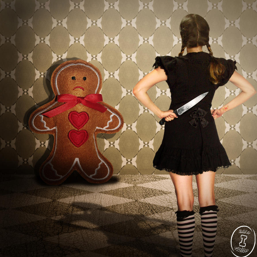 She caught the gingerbread man by inner-outsider