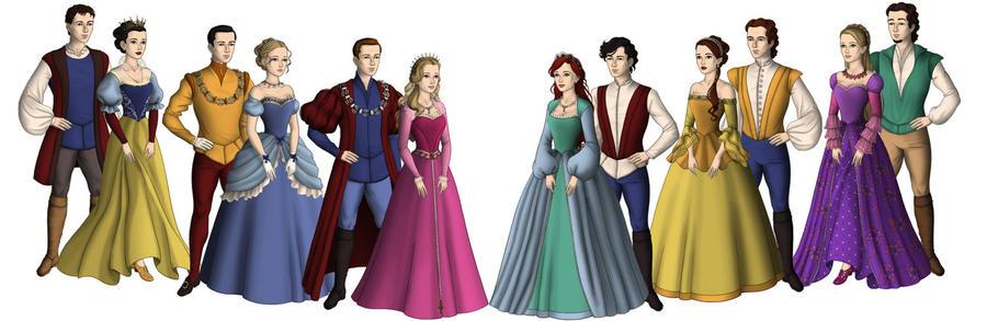disney princesses and princes by foreverbeginstoday on deviantart