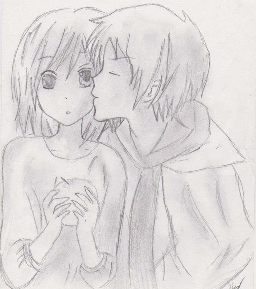 Cute Anime Couple By ZeldaSkywordSword On DeviantArt