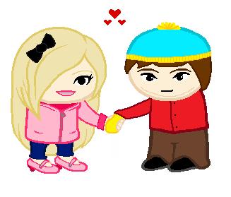 Lisa and Cartman by CartoonPrincess15