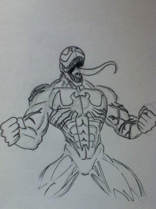 Venom Drawing by TenguYari on DeviantArt