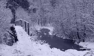 Old Bridge In Winter