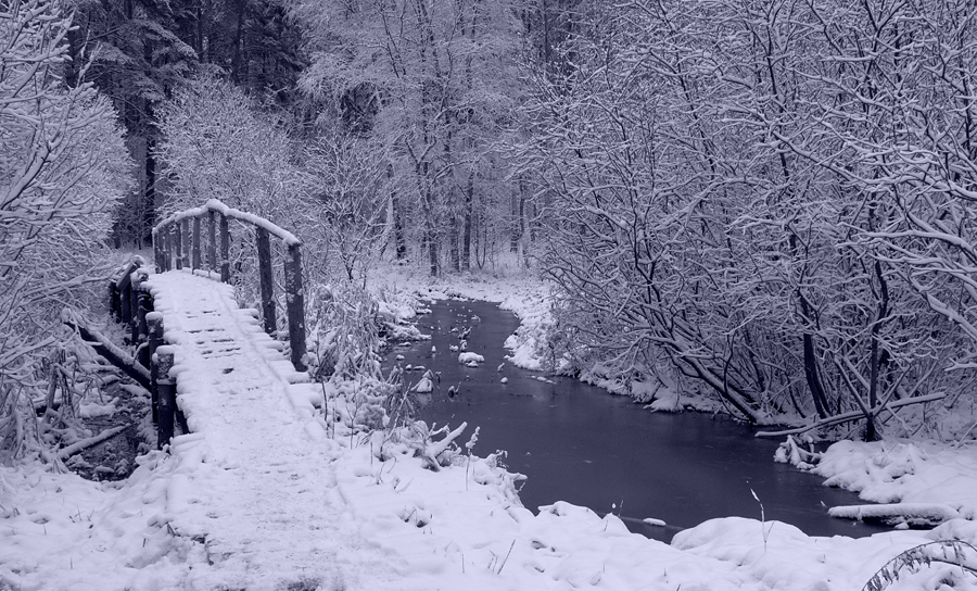 Old Bridge In Winter by DeingeL