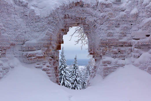 The Window of Frosty Monastery