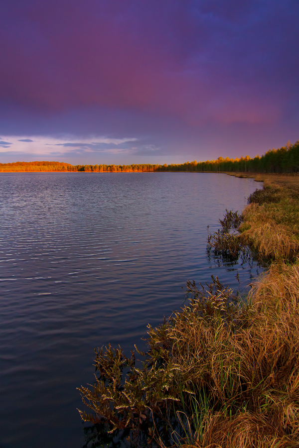 Sunset on the lake Spasskoe by DeingeL