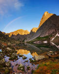 Rainbow Above Lake by DeingeL