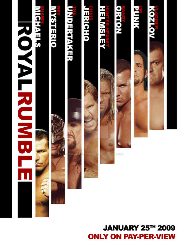 Royal Rumble 2009-AD Poster by austrian-wonderchild