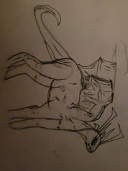Chyrae(Dragon practice sketch) by DragonicBladex