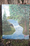 water fall painting