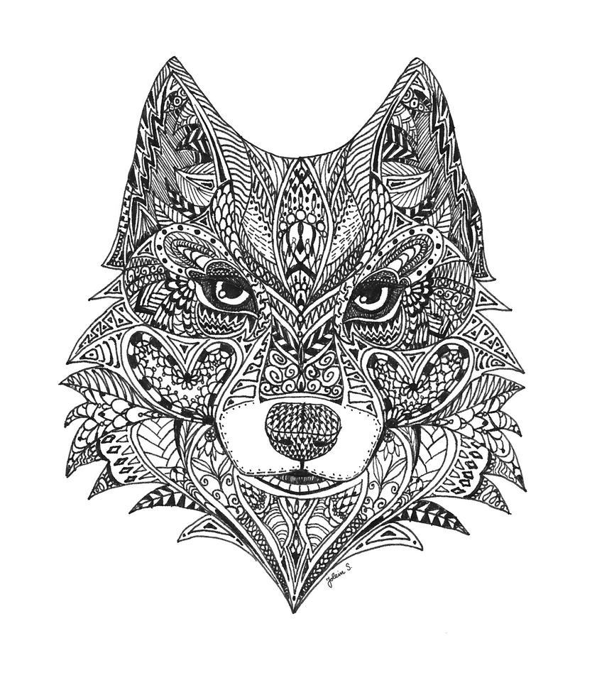 Zentangle Wolf By Light Lein On DeviantArt