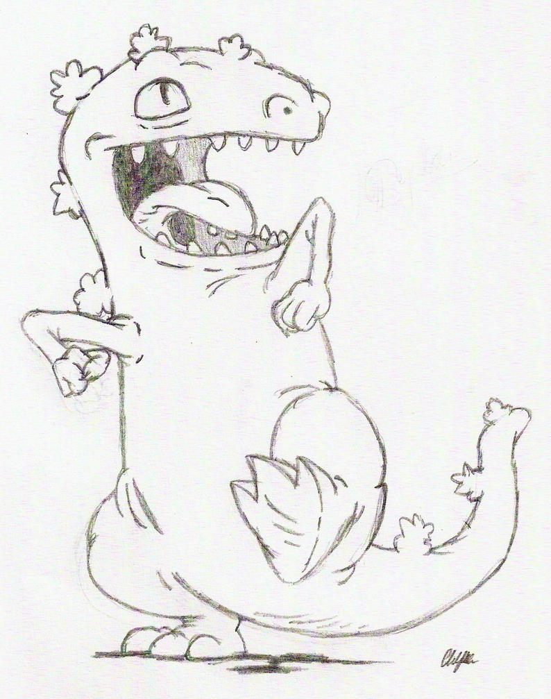 reptar coloring pages - photo#3