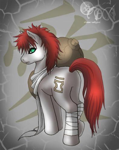 Gaara pony XP by dream-whizper