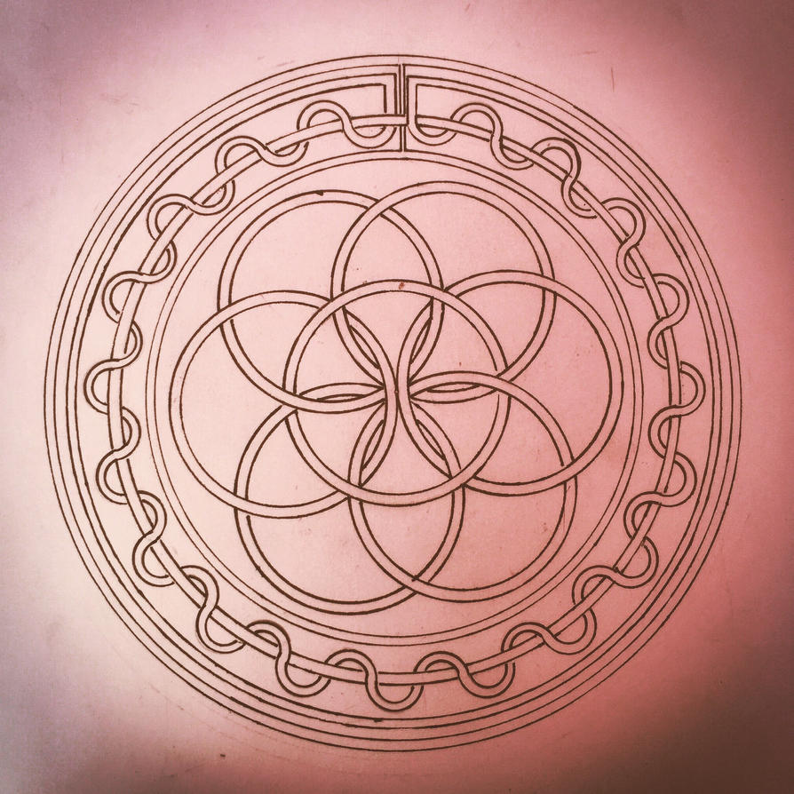 First knotted sacred geometry  by Jasonkirin
