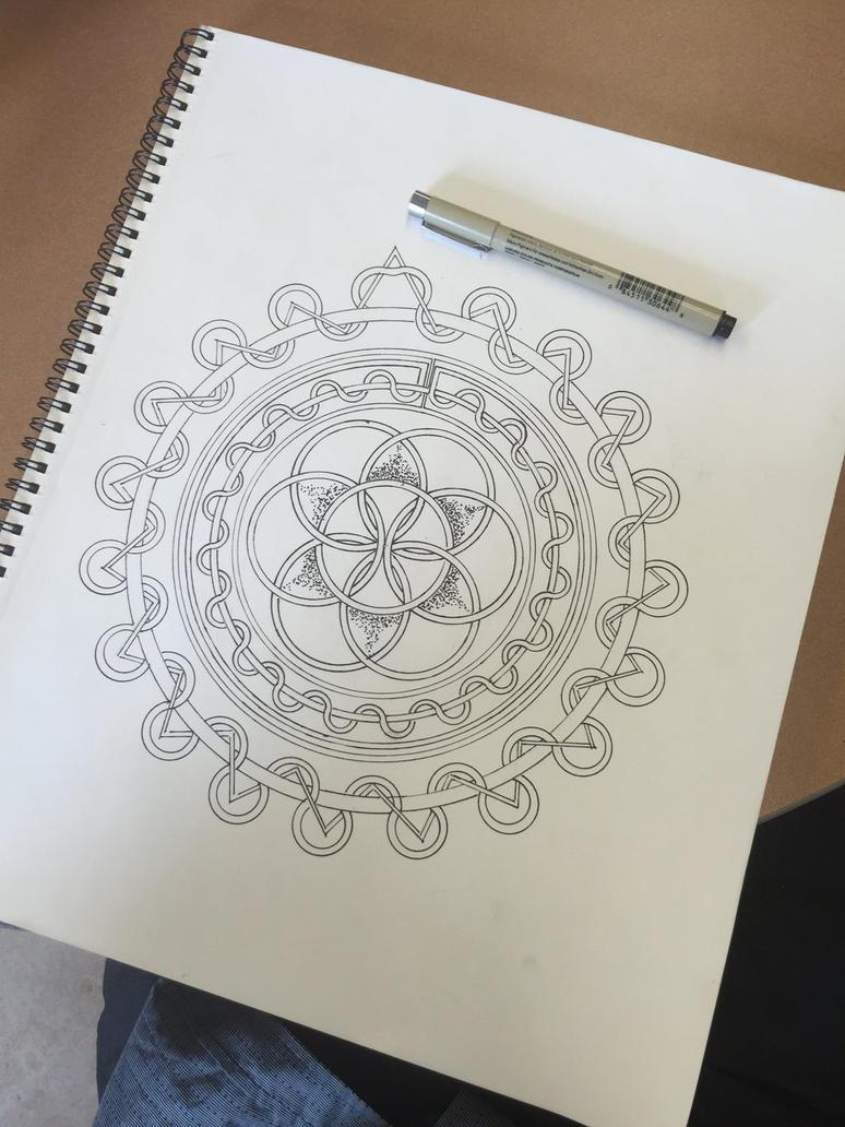 Knotted geometry sacred and stitching. by Jasonkirin