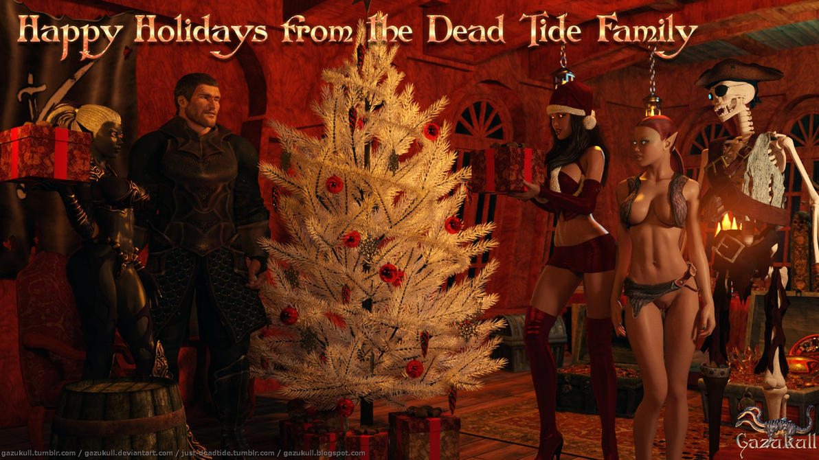 Happy Holidays from the Dead Tide Family by gazukull