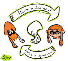 You're a Kid Now, You're a Squid Now! (Splatoon) by Sylverstone14