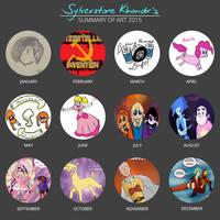 Sylverstone Khandr's 2015 Summary of Art! by Sylverstone14