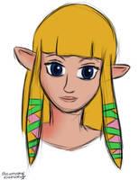 Nightly Sketchcrap - Skyward Sword Zelda by Sylverstone14
