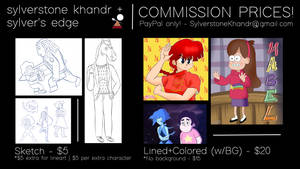 Now Accepting Commissions! by Sylverstone14