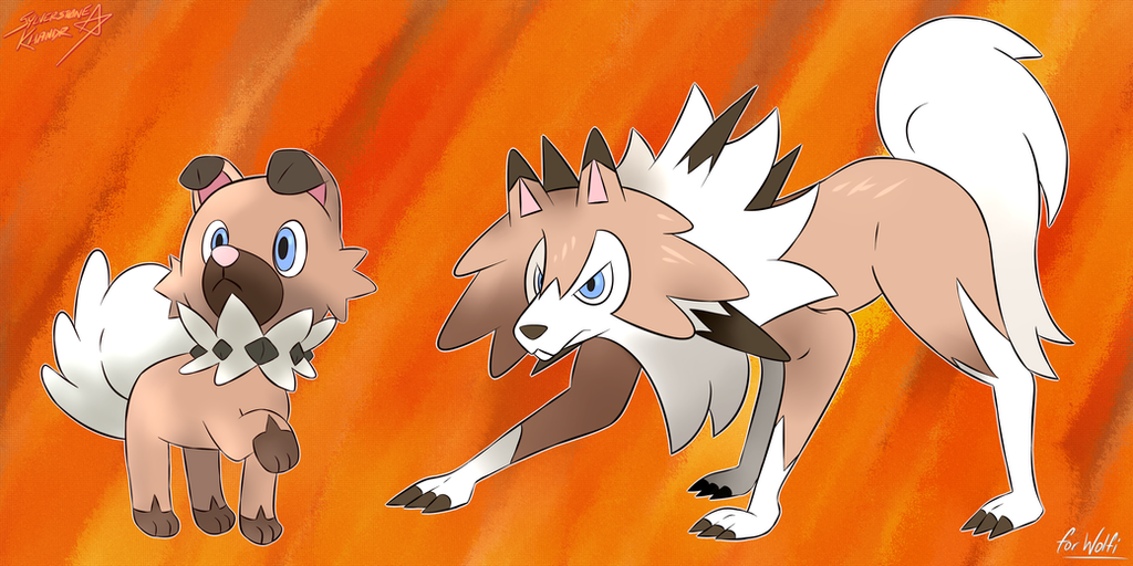 Rockruff and Lycanroc by Sylverstone14
