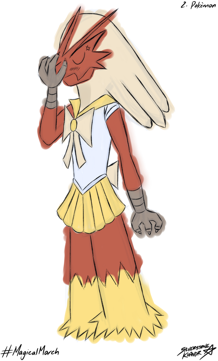 Blaziken [#MagicalMarch, Day 2] by Sylverstone14