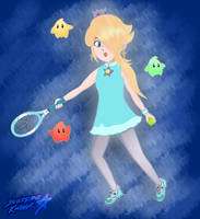 The Princess of Tennis (Mario Tennis Aces) by Sylverstone14