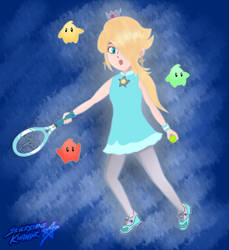 The Princess of Tennis (Mario Tennis Aces) by Sylverstone14