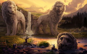 Lionsfall by alaeries