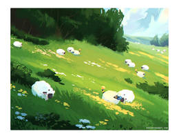 500 sheep by alaeries
