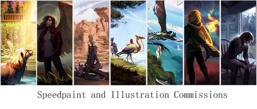 Illustration and Speedpaint Commissions Open!