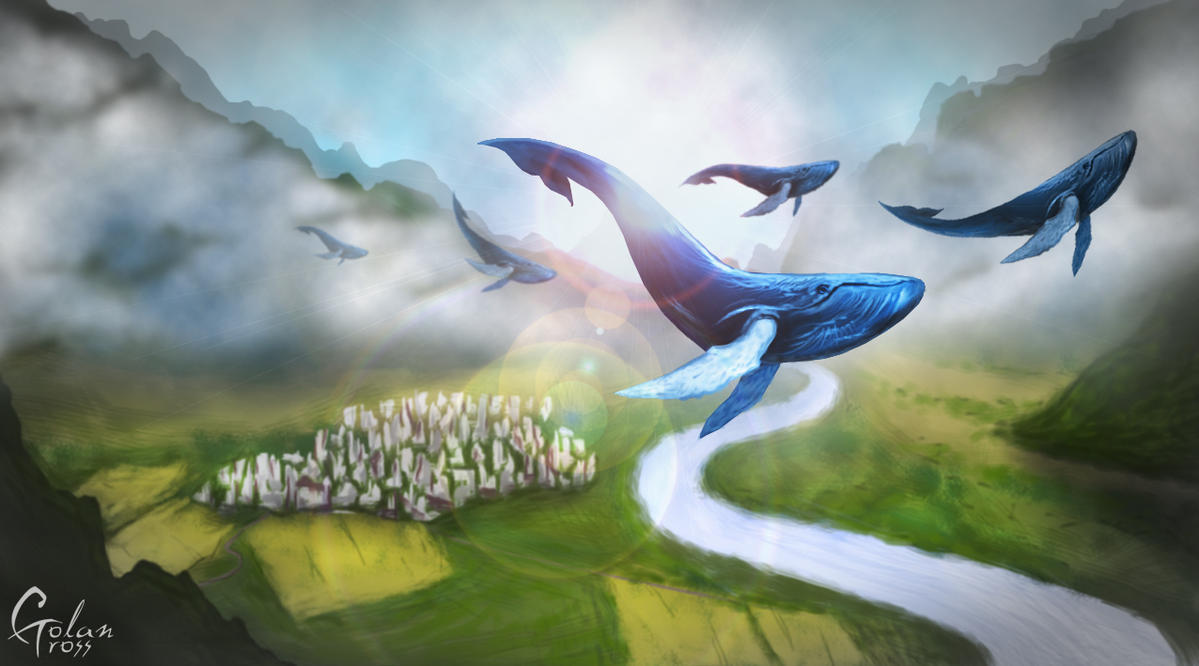 The Flight of Whales by Ghj