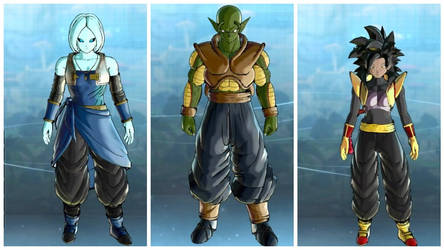 Dragon Ball Xenoverse 2: Amunet, Armon,and Zalika by SilentNamekian