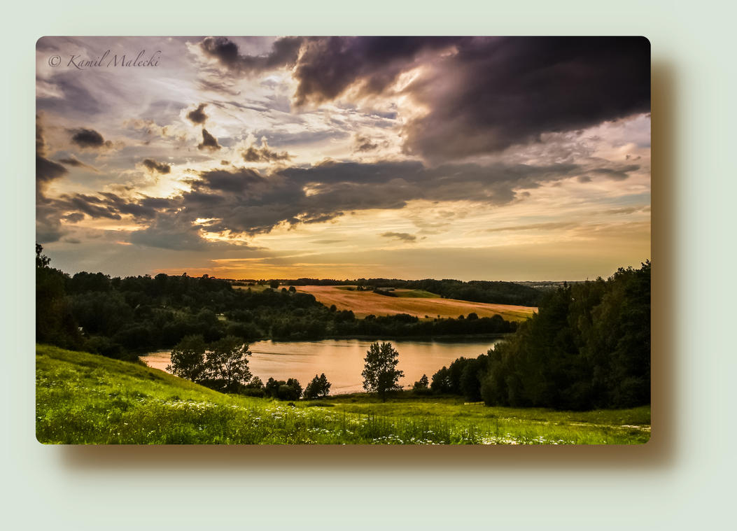 Sunset  in Poland by Haiburidd0