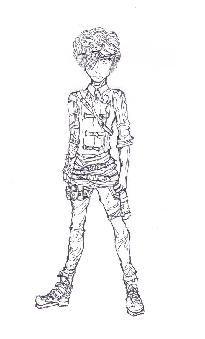 Fen outfit design lineart by CandraRose