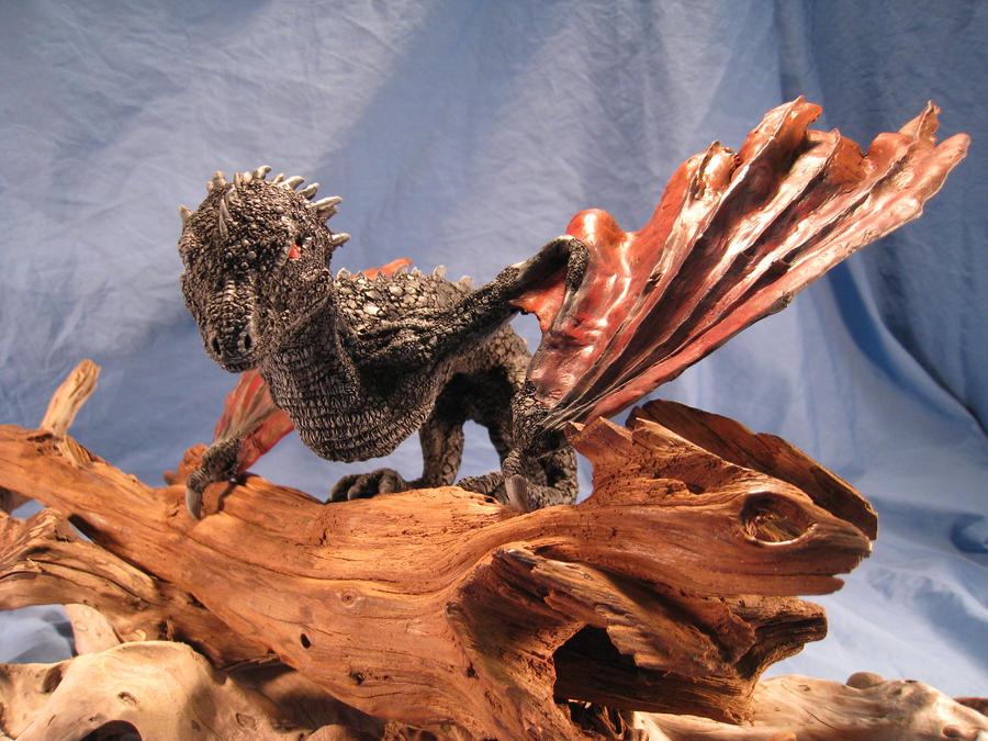 Drogon Daenerys Commission Dragon Sculpture 1 by RavendarkCreations
