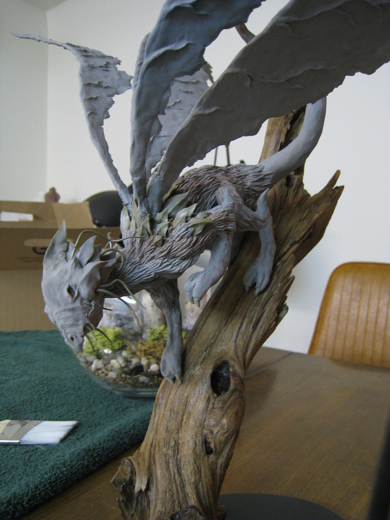 Forest Dragon WIP by RavendarkCreations