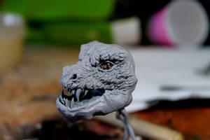 Halfway point on an Oak Dragon by RavendarkCreations
