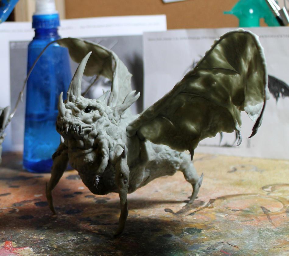Villoingt Demon Scultp WIP 1 by RavendarkCreations