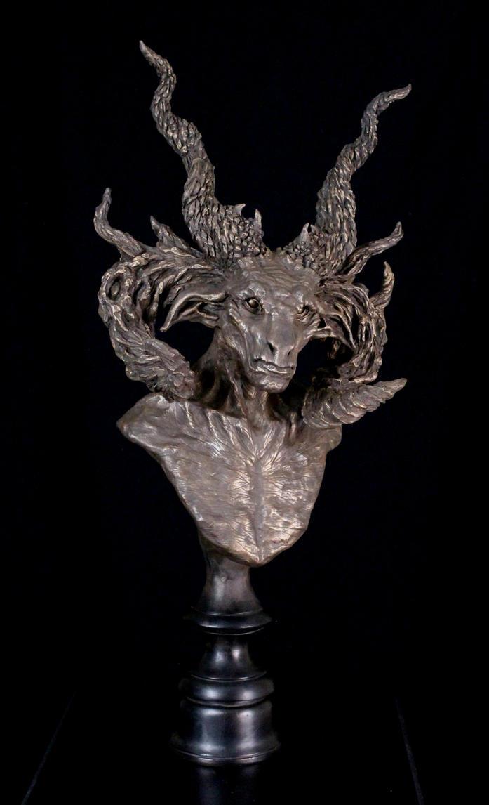 Bronze Satyr Manitou Bust by RavendarkCreations