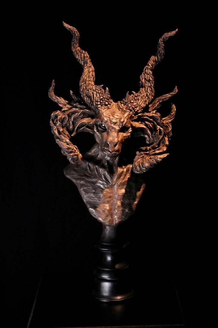 Satyr Manitou Cold-cast Bronze by RavendarkCreations