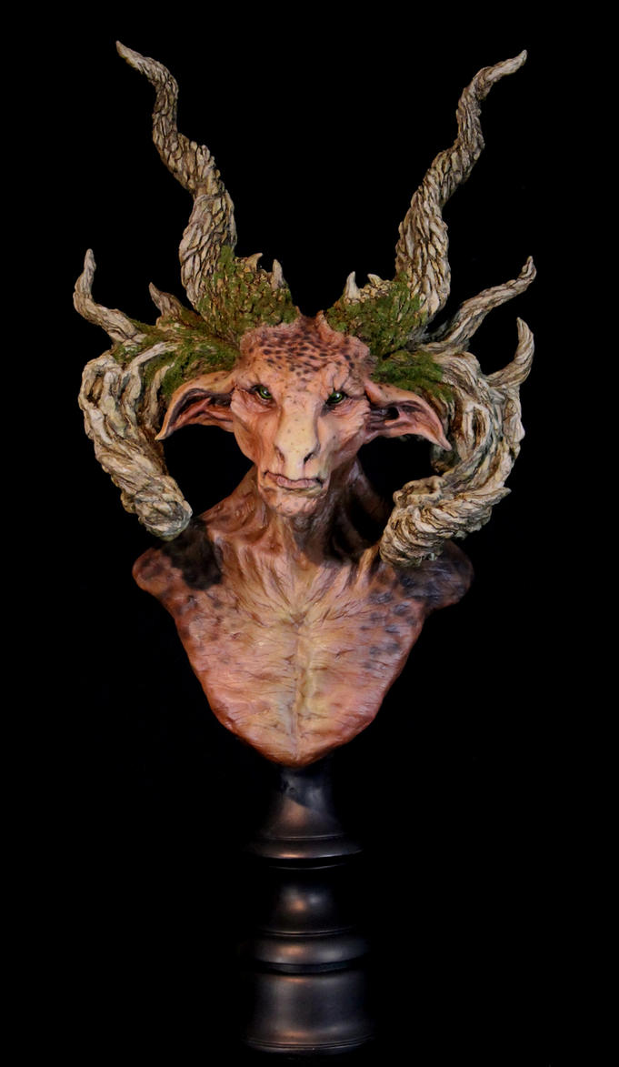 The Forest Lord - Limited Edition Satyr Bust by RavendarkCreations