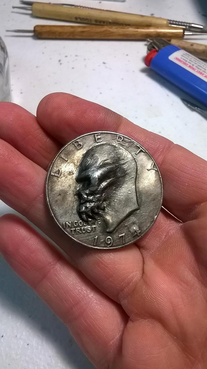 Converted Coin Skull by RavendarkCreations