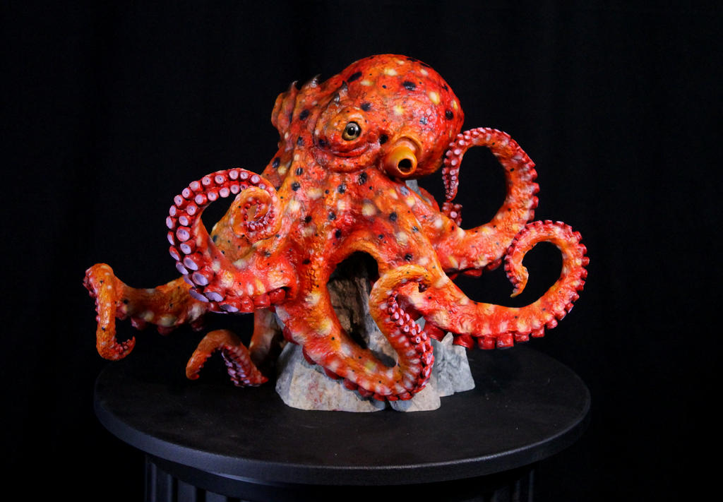 OOAK Octopus Sculpture View 2 by RavendarkCreations