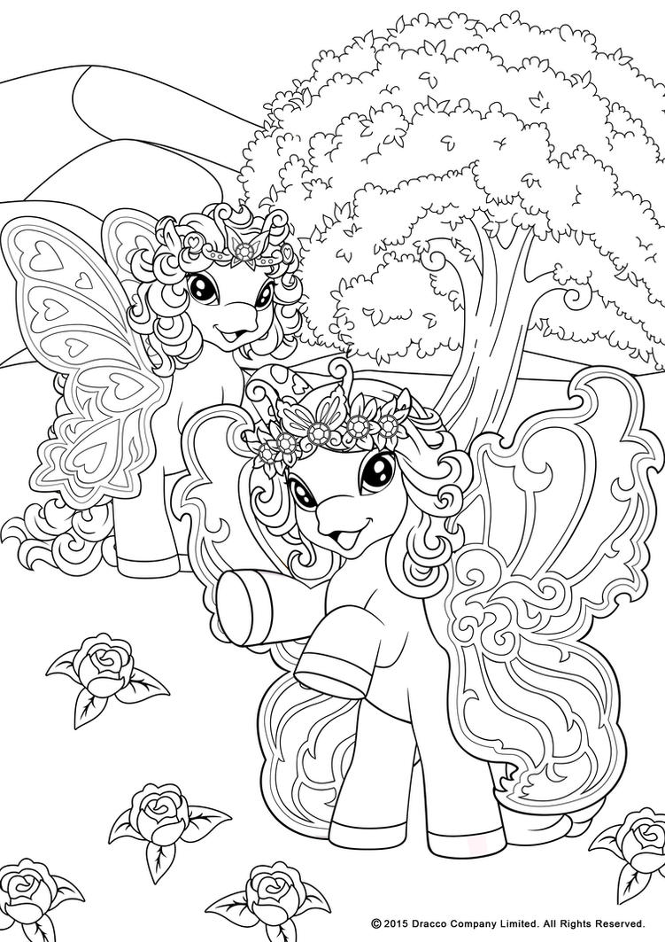 my filly world pony toys coloring pages butterfly by myfilly on