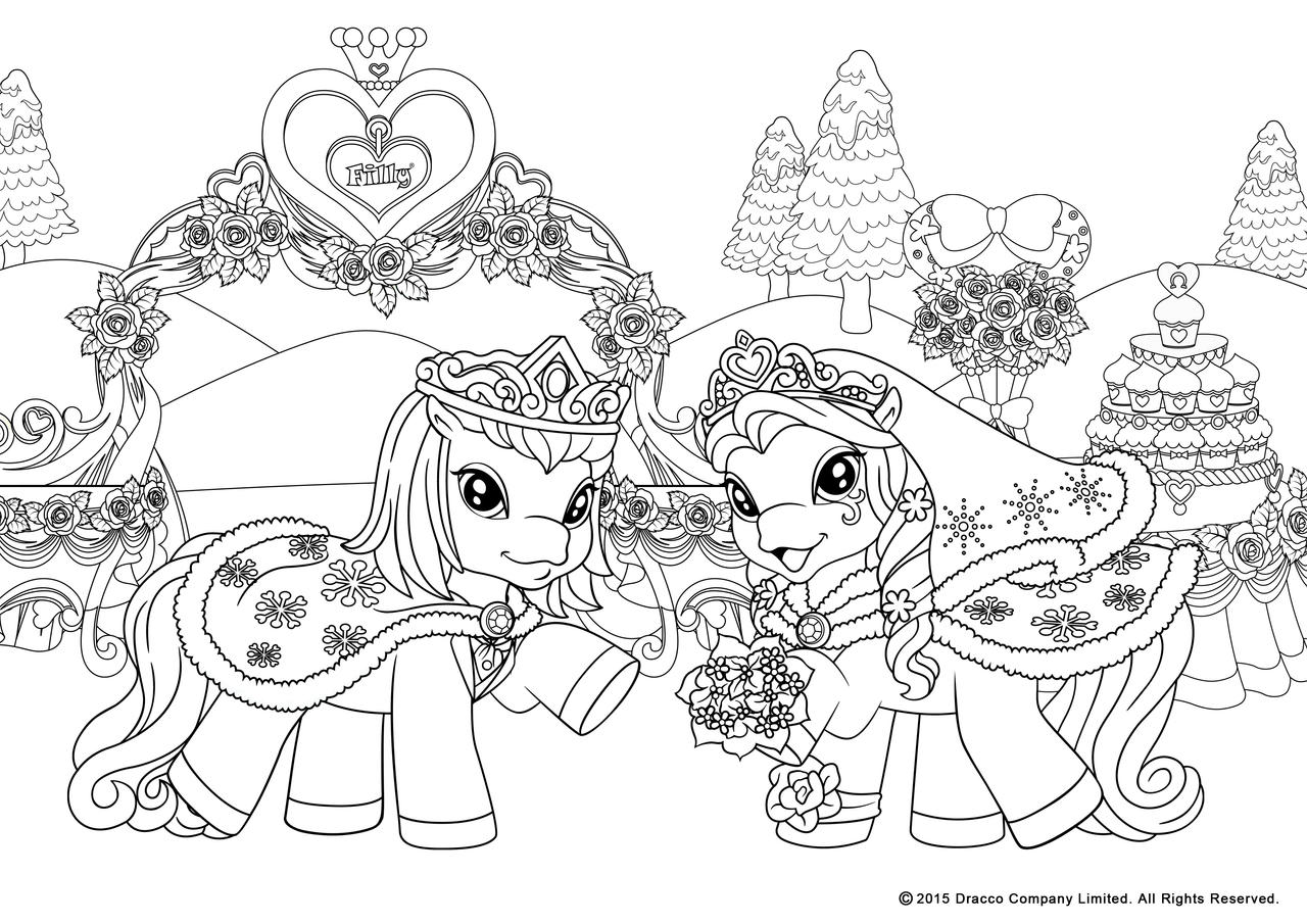 filly coloring pages - my filly world pony toys coloring pages winterwedd by