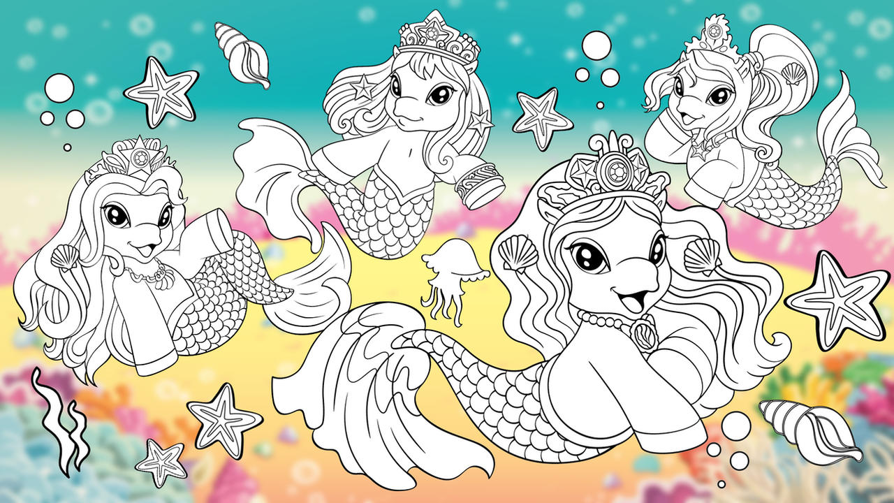Filly Mermaids Coloring Dracco Toys Pony Friendshi By Myfilly On DeviantArt