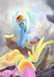 In the remains of Canterlot